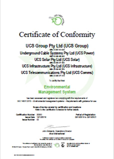 IS0 14001 - 20300 EMS Certificate of Conformity