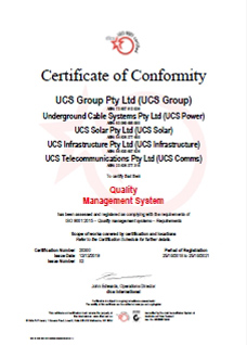ISO 9001 - 20300 QMS Certificate of Conformity